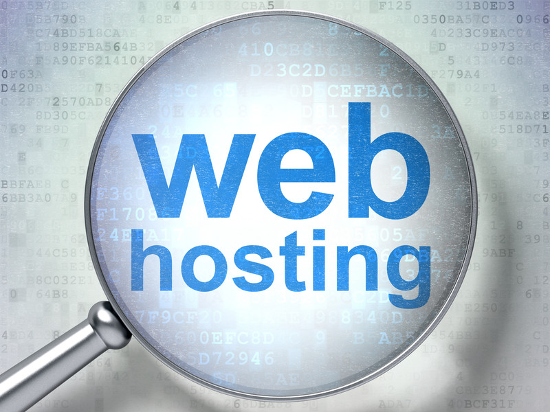 web hosting magnifying glass